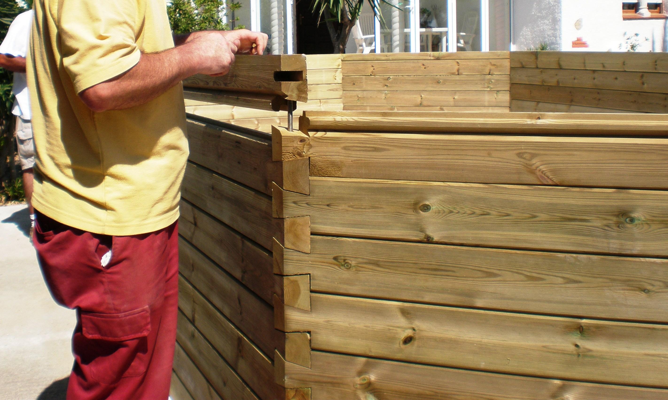 Piscinas de madera en tarragona piscinas con elegancia - Piscinas de madera semienterradas ...
